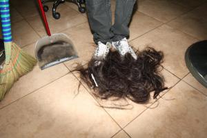 Hair On Salon Floor